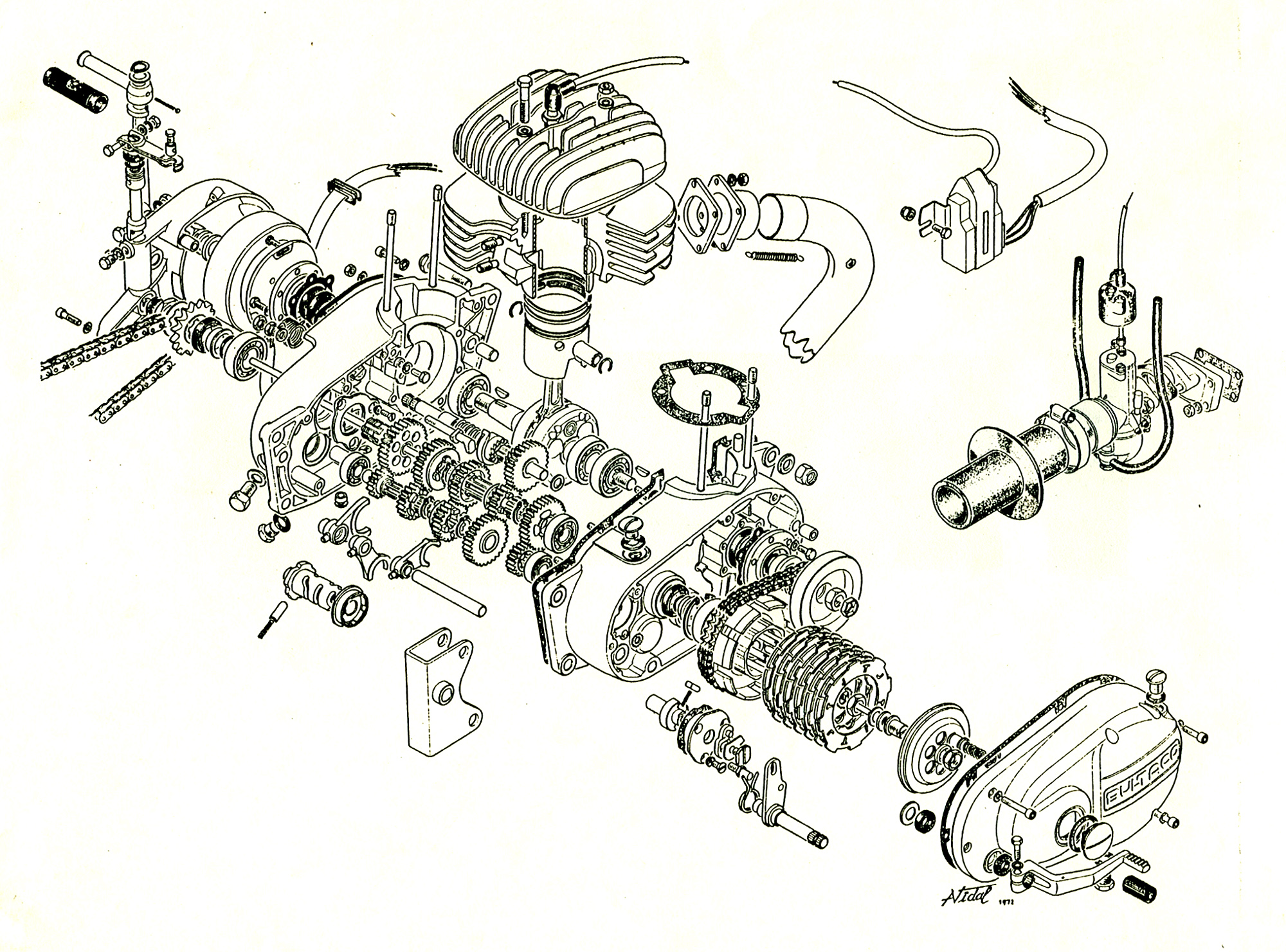 File Bultaco Engine Exploded View