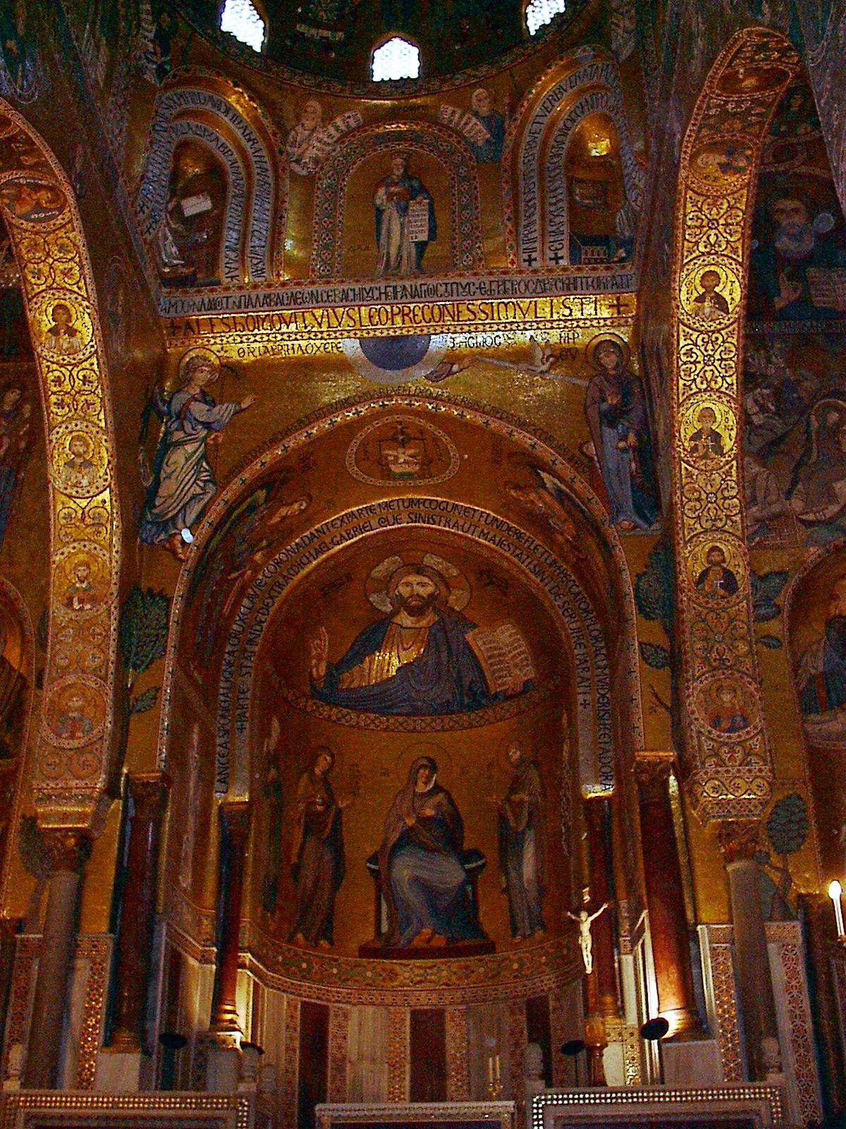 Mosaici della Cappella Palatina nel Palazzo dei Normanni Palermo 1143 ca