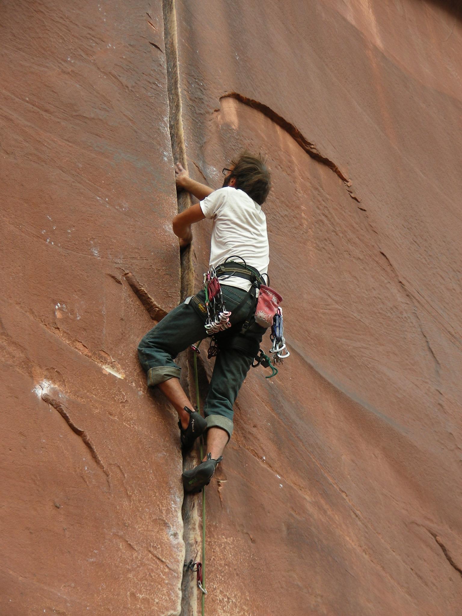 Crack climbing  Wikipedia