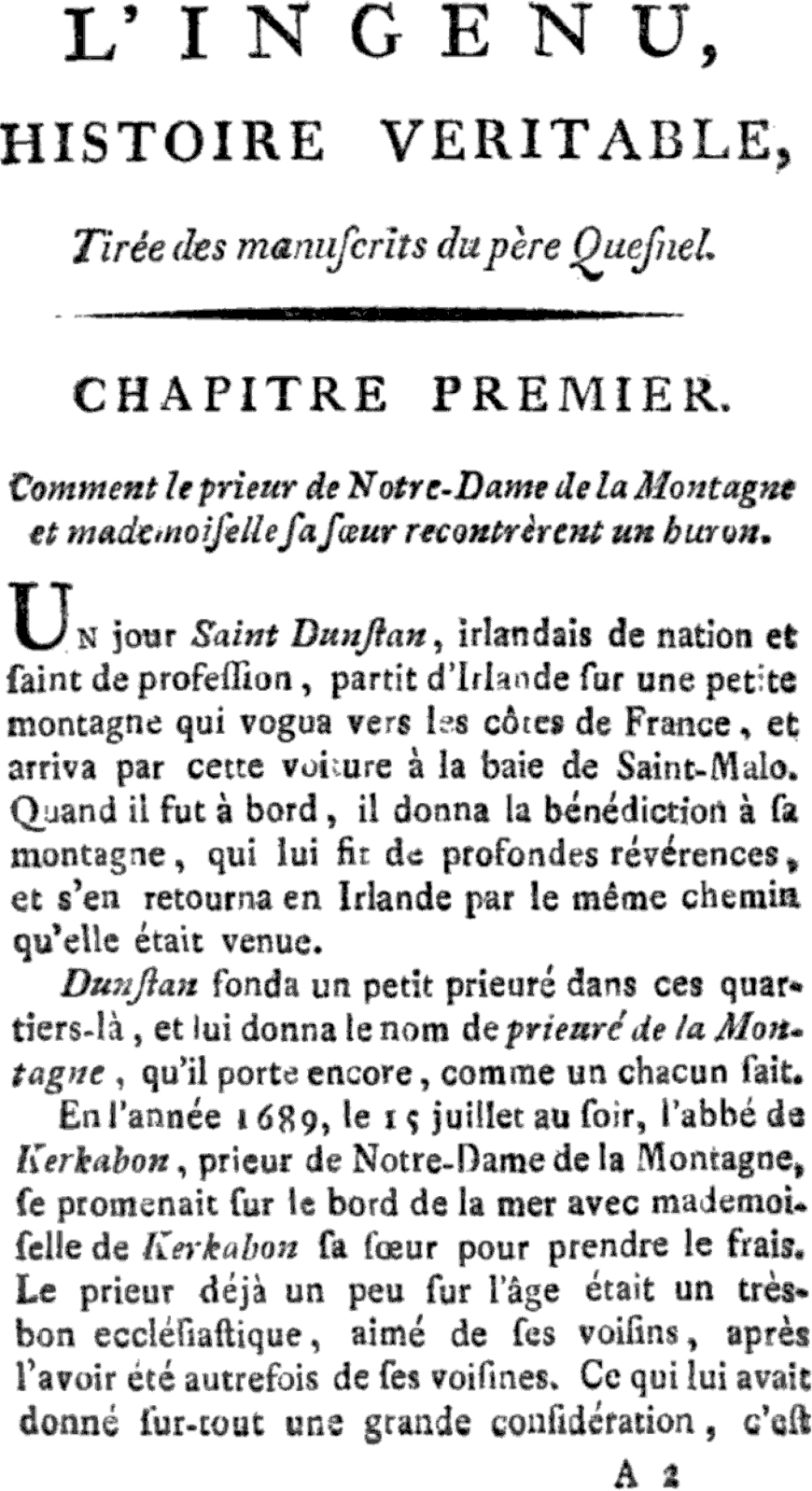 L Ingénu De Voltaire Résumé : ingénu, voltaire, résumé, L'Ingénu, Wikipedia