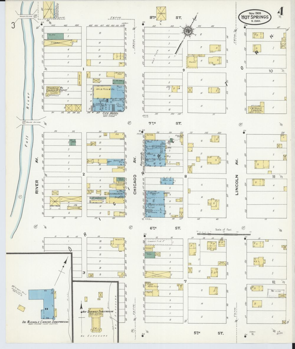 medium resolution of file sanborn fire insurance map from hot springs fall river county south dakota
