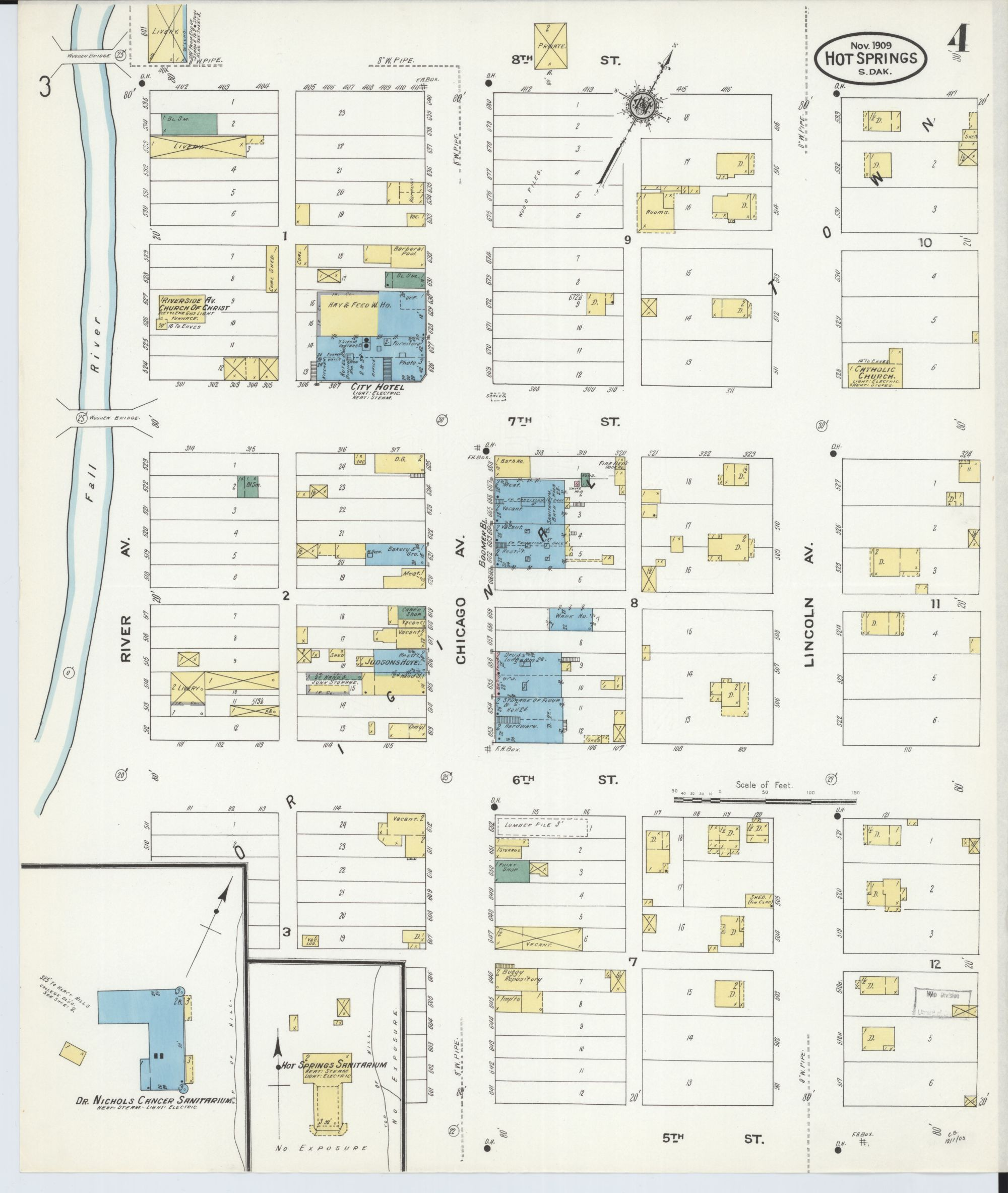 hight resolution of file sanborn fire insurance map from hot springs fall river county south dakota