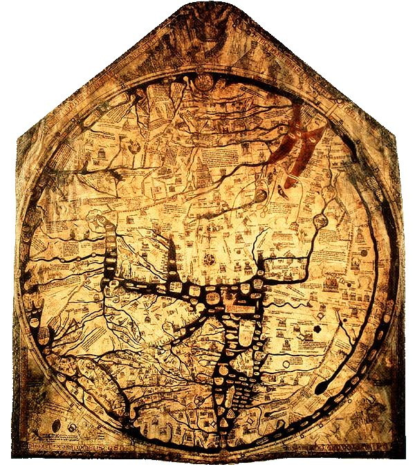 The Hereford Mappa Mundi, about 1300, Hereford...