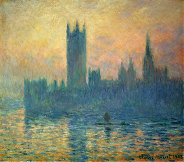 """""""The Houses of Parliament, Sunset"""" by Claude Monet"""