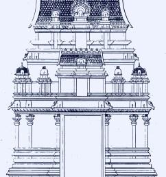 two stoery gopura dravidian architecture  [ 1524 x 2120 Pixel ]