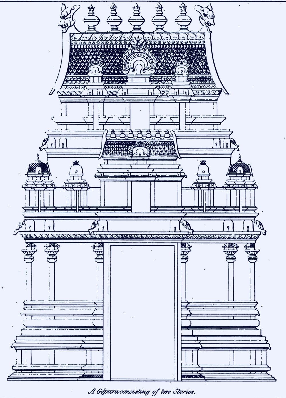medium resolution of two stoery gopura dravidian architecture