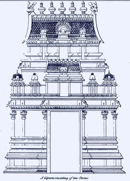 small resolution of two stoery gopura dravidian architecture