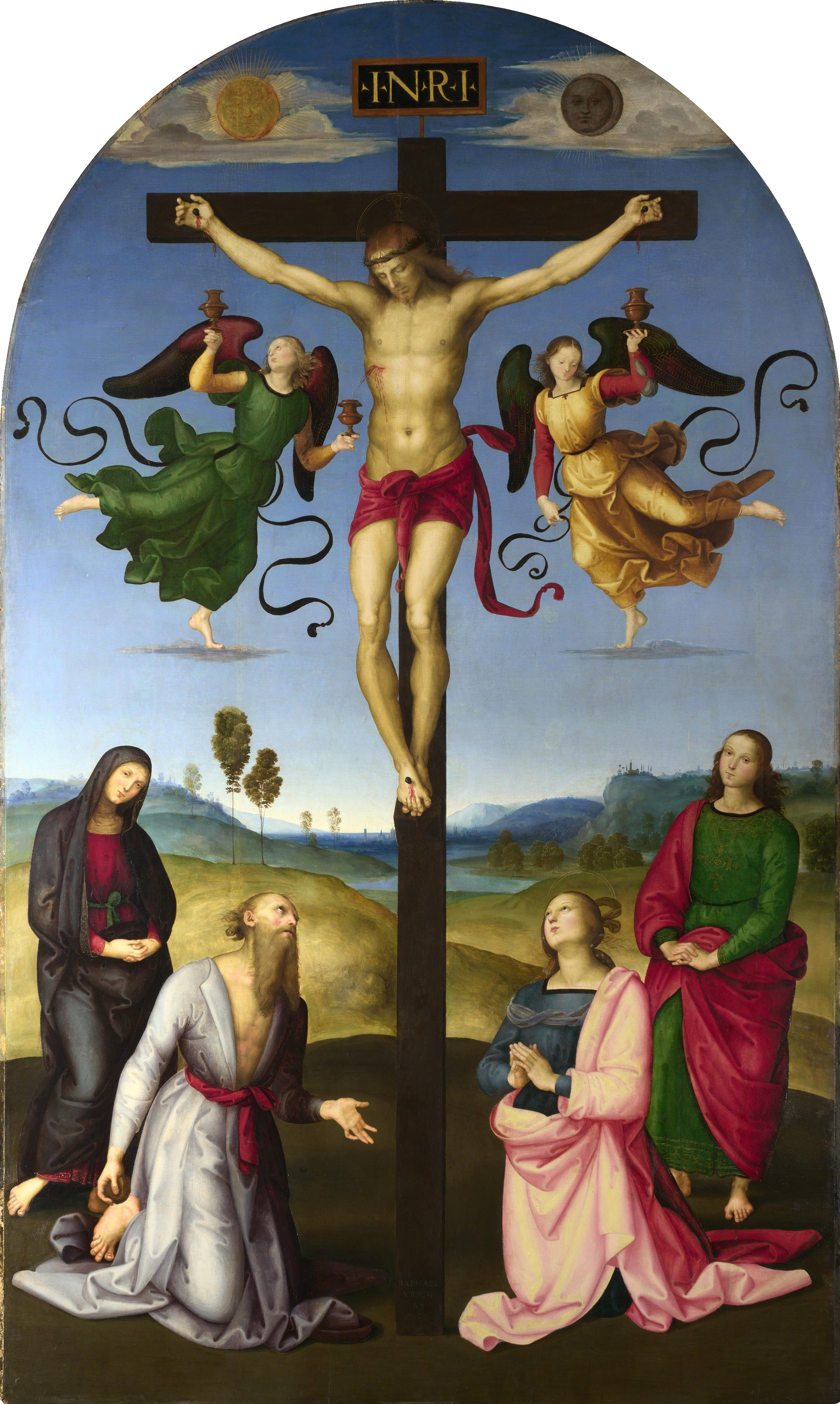 the Mond Crucifixion by Raphael taken from Wikipedia