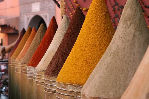 Marrakesh, fűszer piac