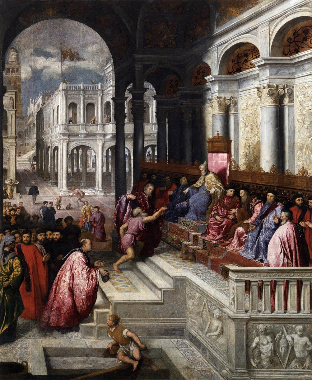Paris Bordone, Presentation of the Ring to the Doges of Venice.