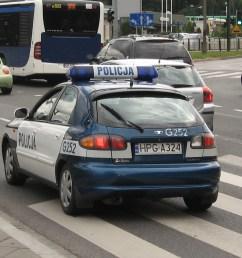 file daewoo lanos police squad car of policja on marii konopnickiej avenue in krak w 1 jpg [ 2592 x 1944 Pixel ]