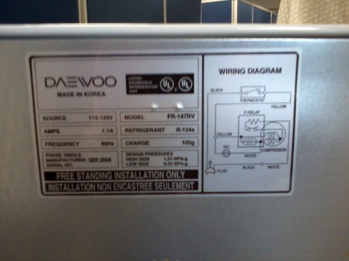 small resolution of file daewoo electronics refrigerator plate jpg