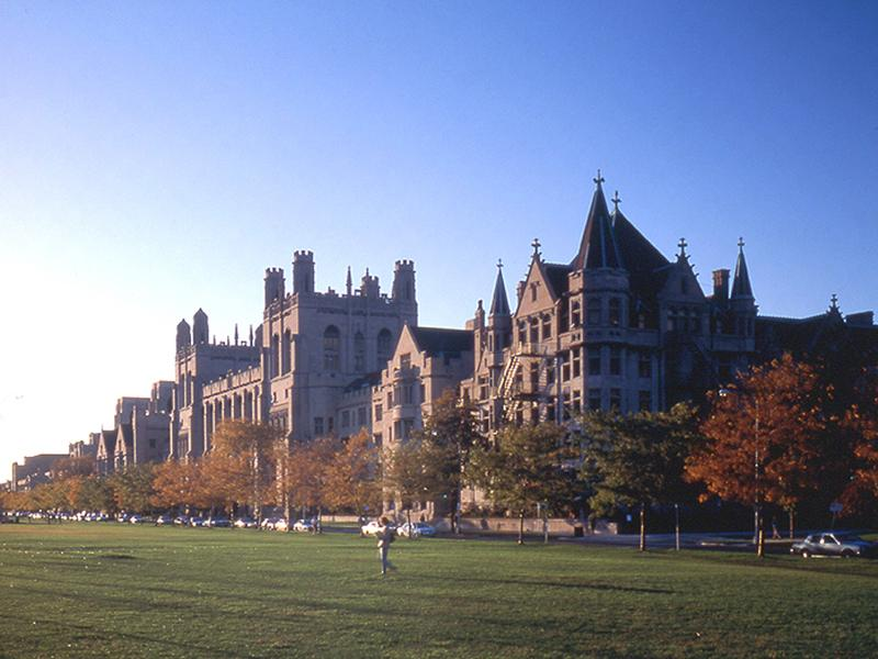 Harper Library seen from the Midway Plaisance, University of Chicago