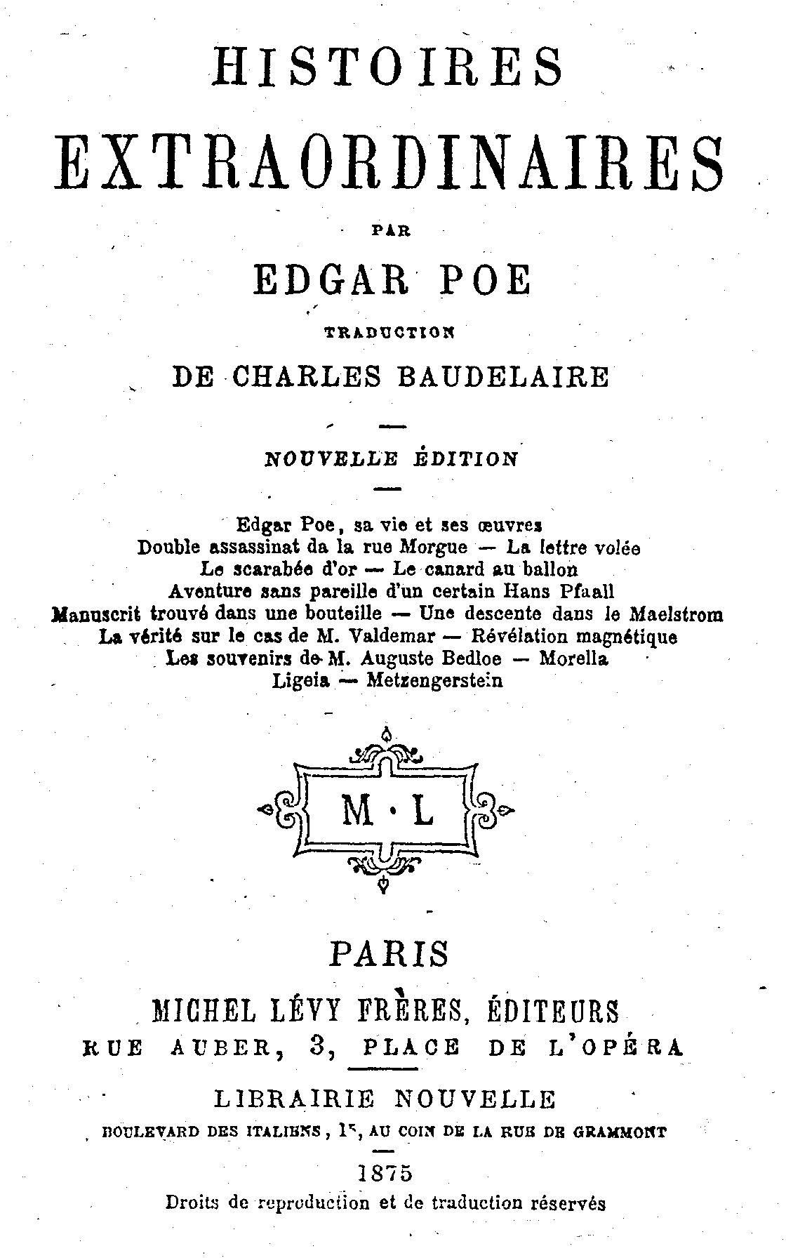 Edgar Allan Poe Histoires Extraordinaires : edgar, allan, histoires, extraordinaires, Histoires, Extraordinaires, Wikipédia
