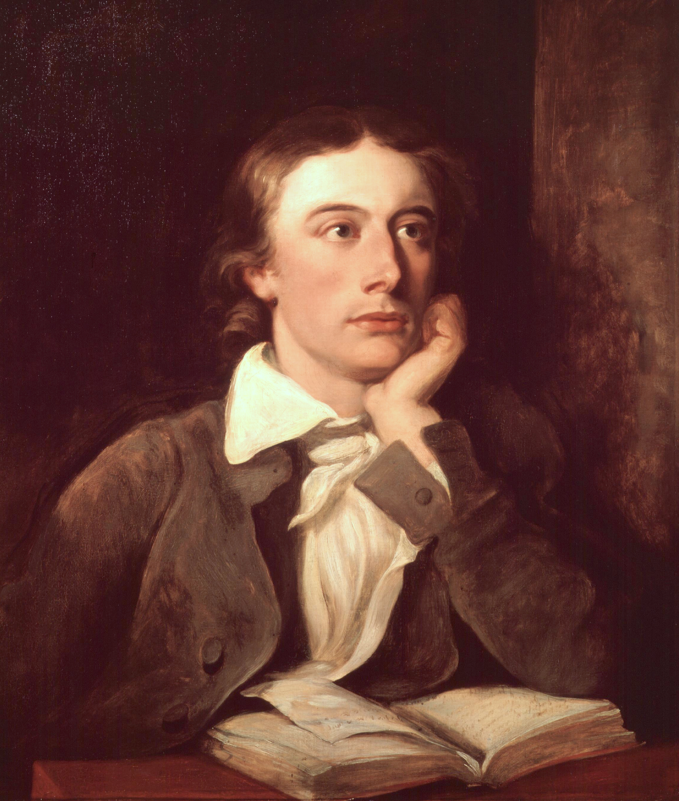 John Keats, by William Hilton (died 1839). See...