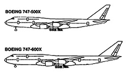 English: Depiction of the Boeing 747-500X and ...