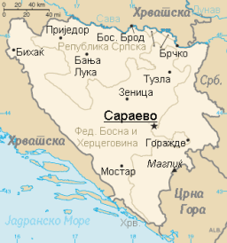 Bosnia and Herzegovina map mk