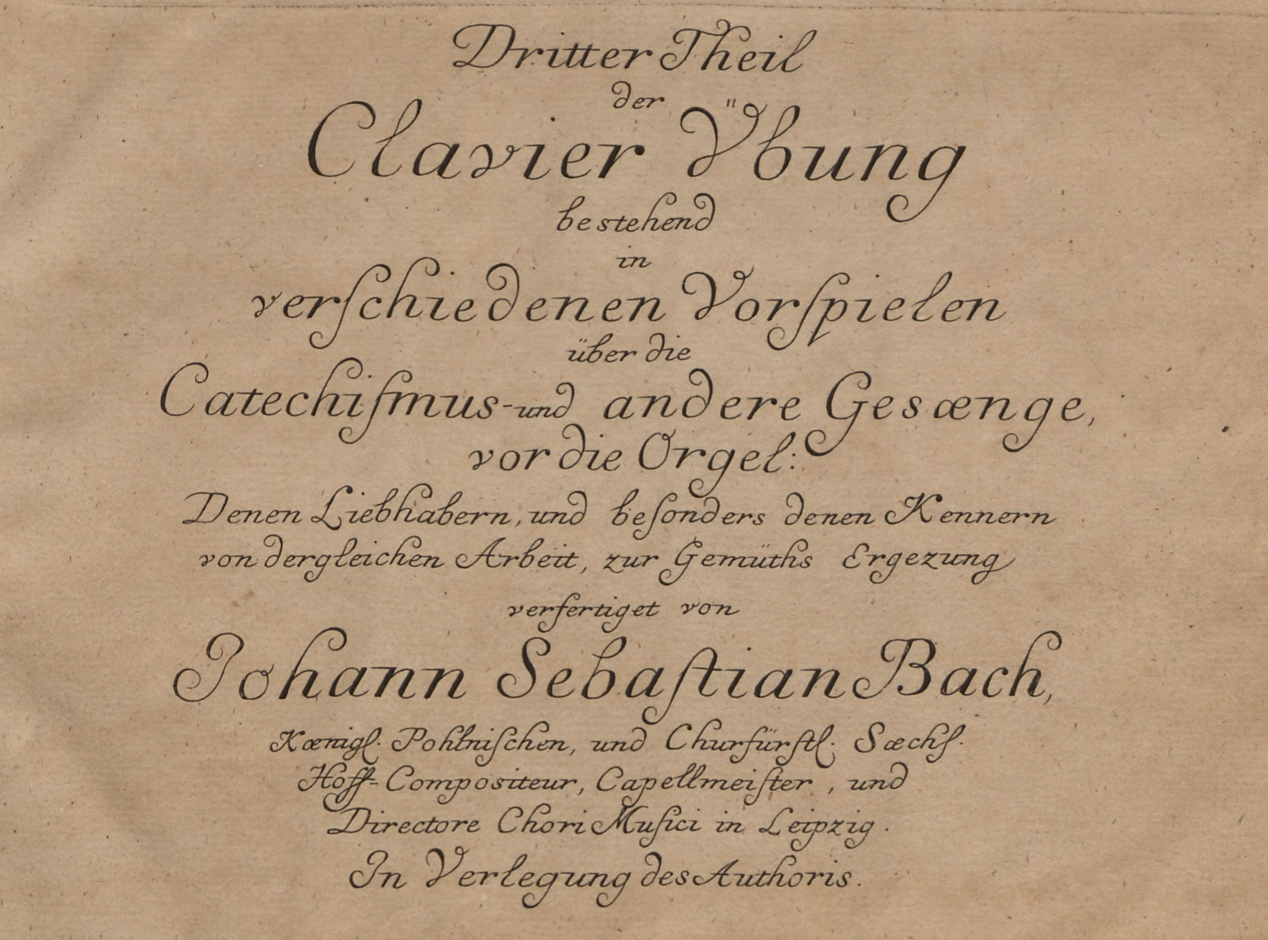 Title page of Clavier-Übung III