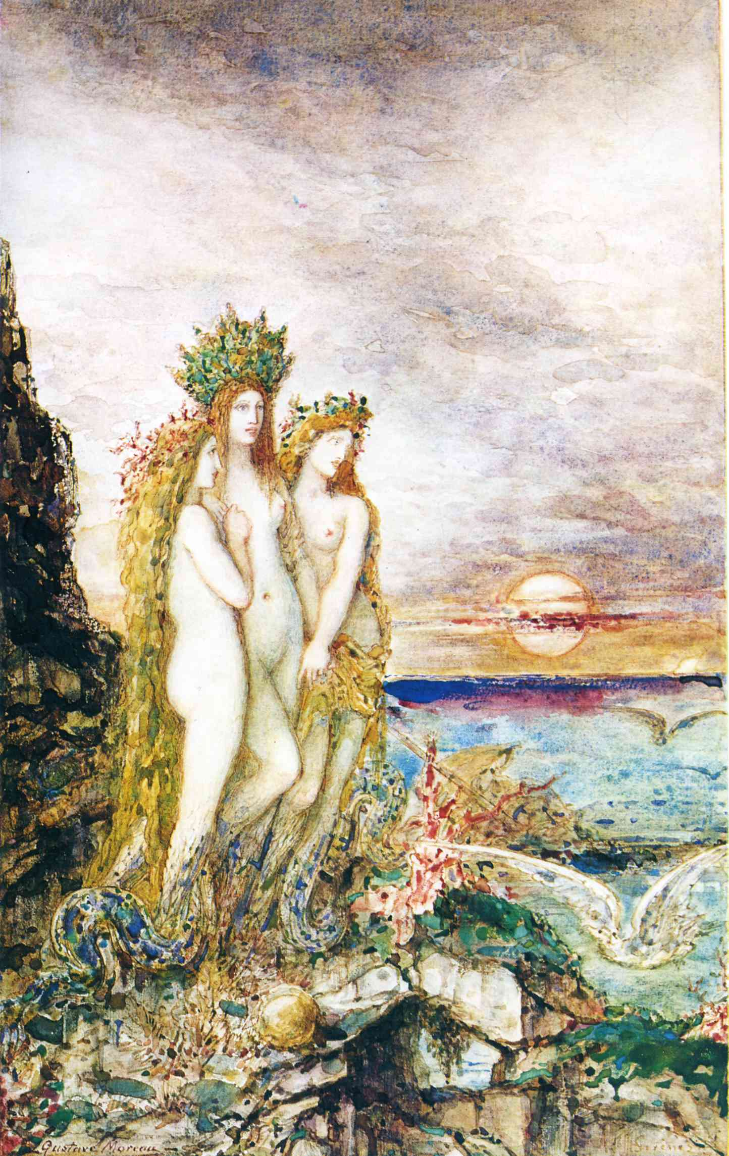 Gustave Moreau - The Sirens 1872