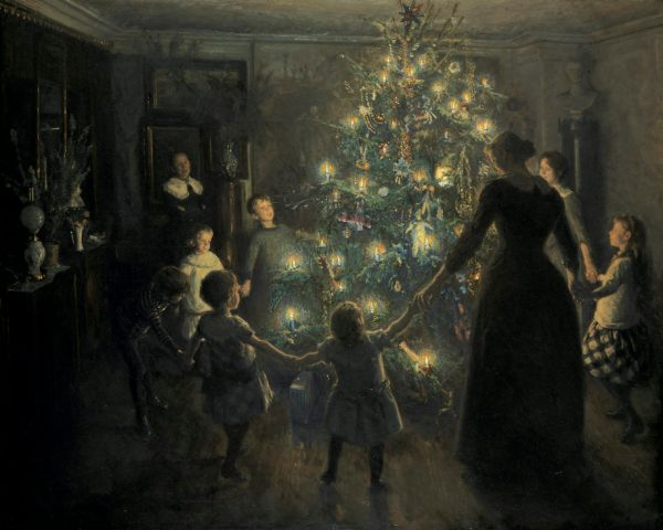 Happy Christmas, painted by Johansen Viggo