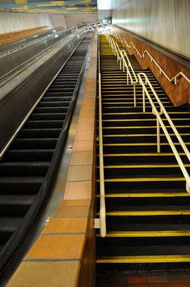 Photo of Porter Square's record-length escalator