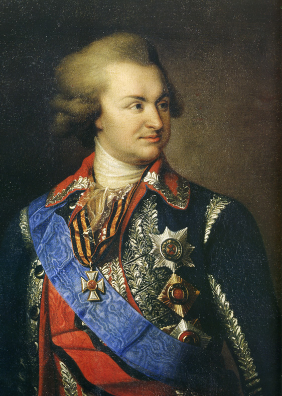 Portrait of russian fieldmarshal Prince Potemkin, in russian: Г.А. Потемкин-Таврический, (1739—91).