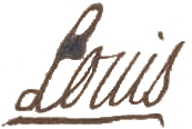 English: Signature of Louis XV in 1753 at the ...