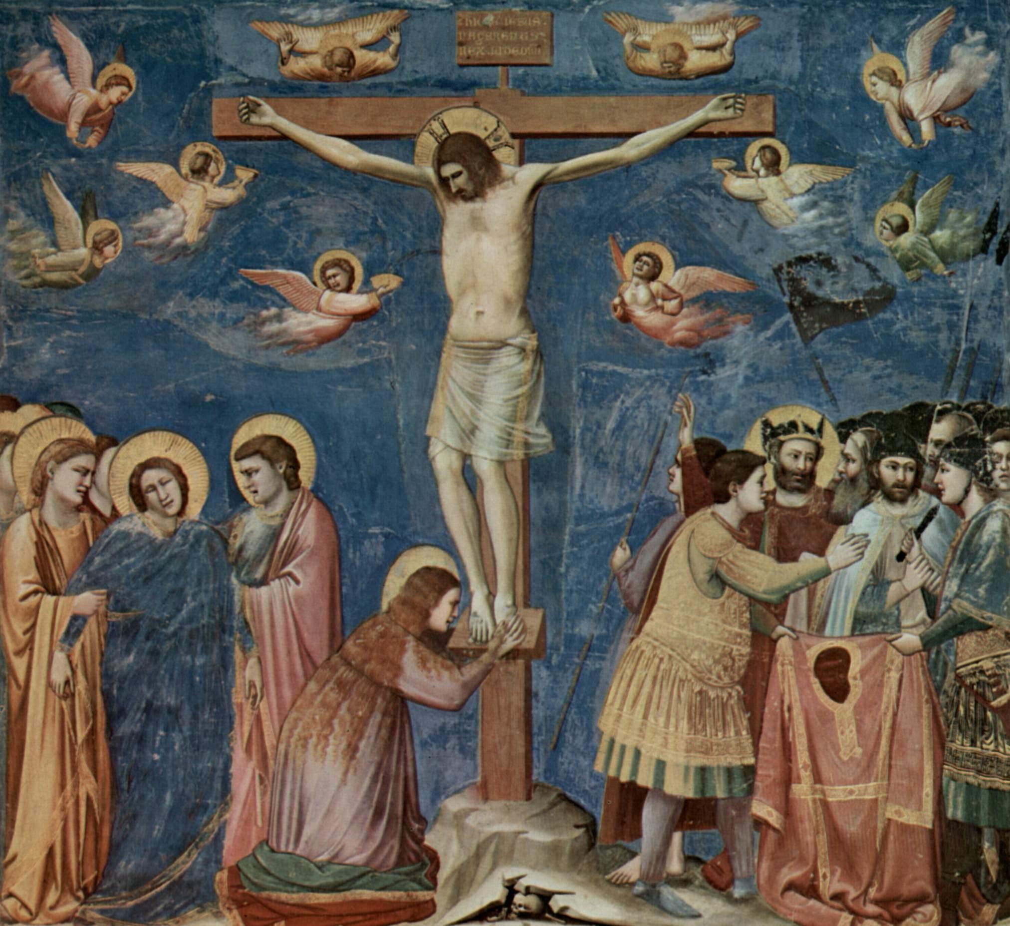 Giotto di Bondone: Crucificação na  Cappella degli Scrovegni, em Pádua (1304-1306)