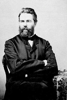 Herman Melville, American author. Reproduction...