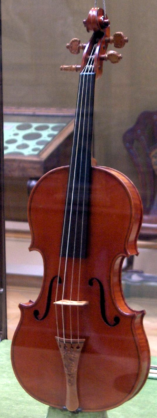 "The ""Messiah"" Stradivarius (1716), Ashmolean Museum, Oxford."