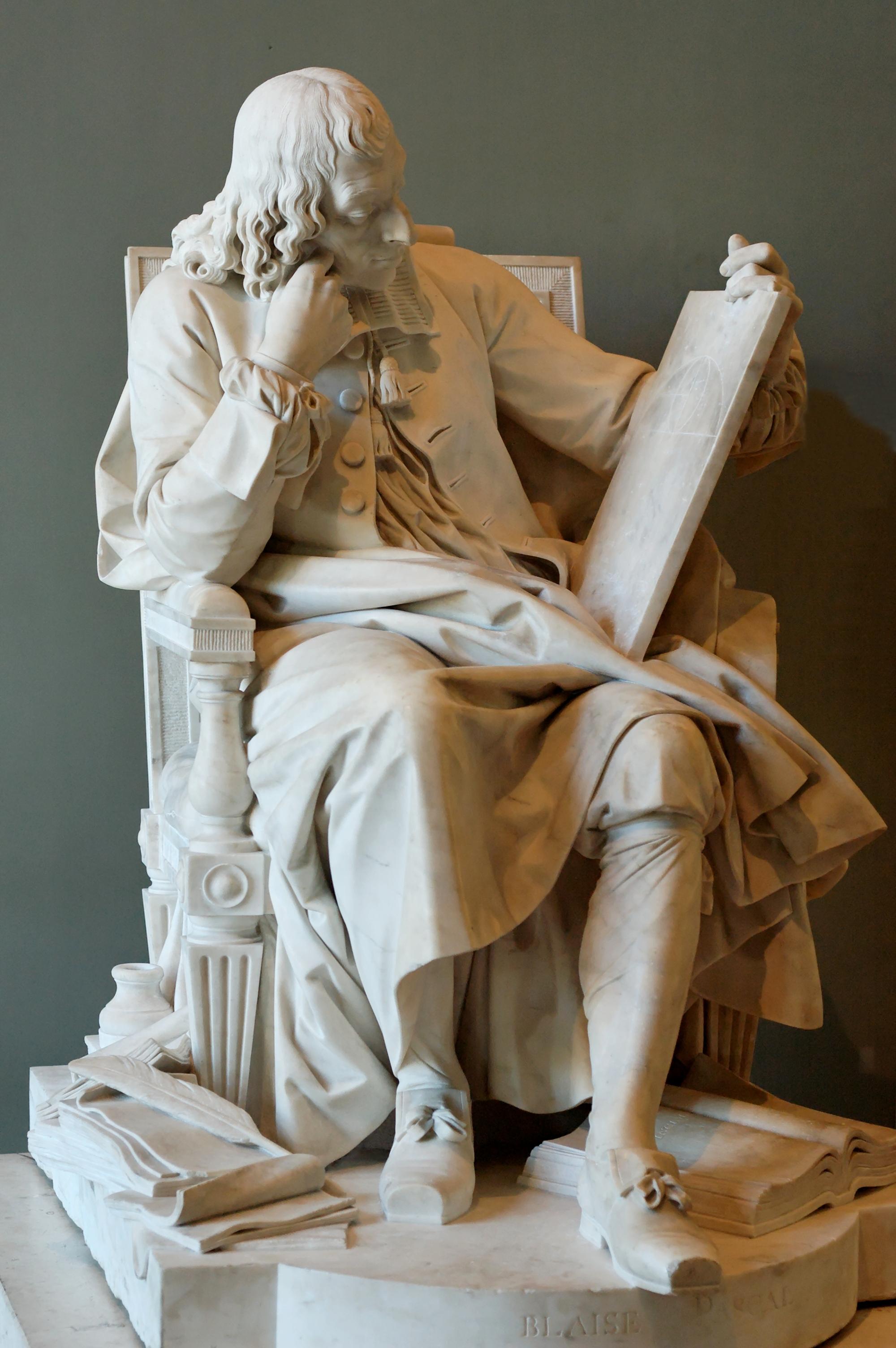 Blaise Pascal by Augustin Pajou, Louvre