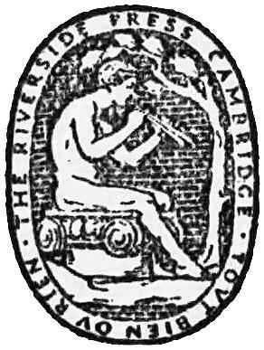 English: Riverside Press Cambridge logo from A...