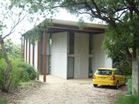 Fibre cement (brutalist) pavillion style archi...