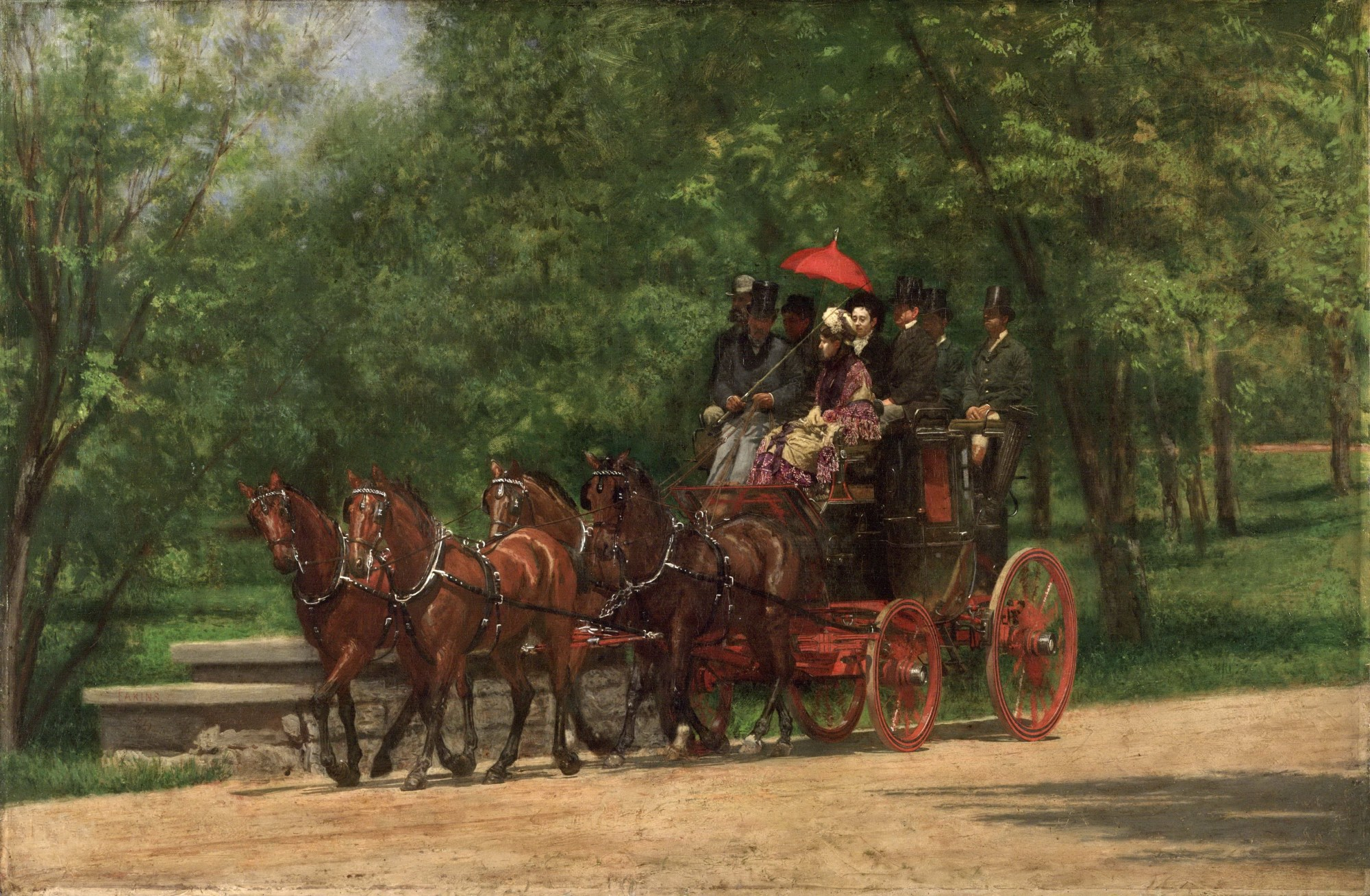 hight resolution of the fairman rogers four in hand 1879 80 by thomas eakins was the first painting to demonstrate precisely how horses move based on systematic photographic