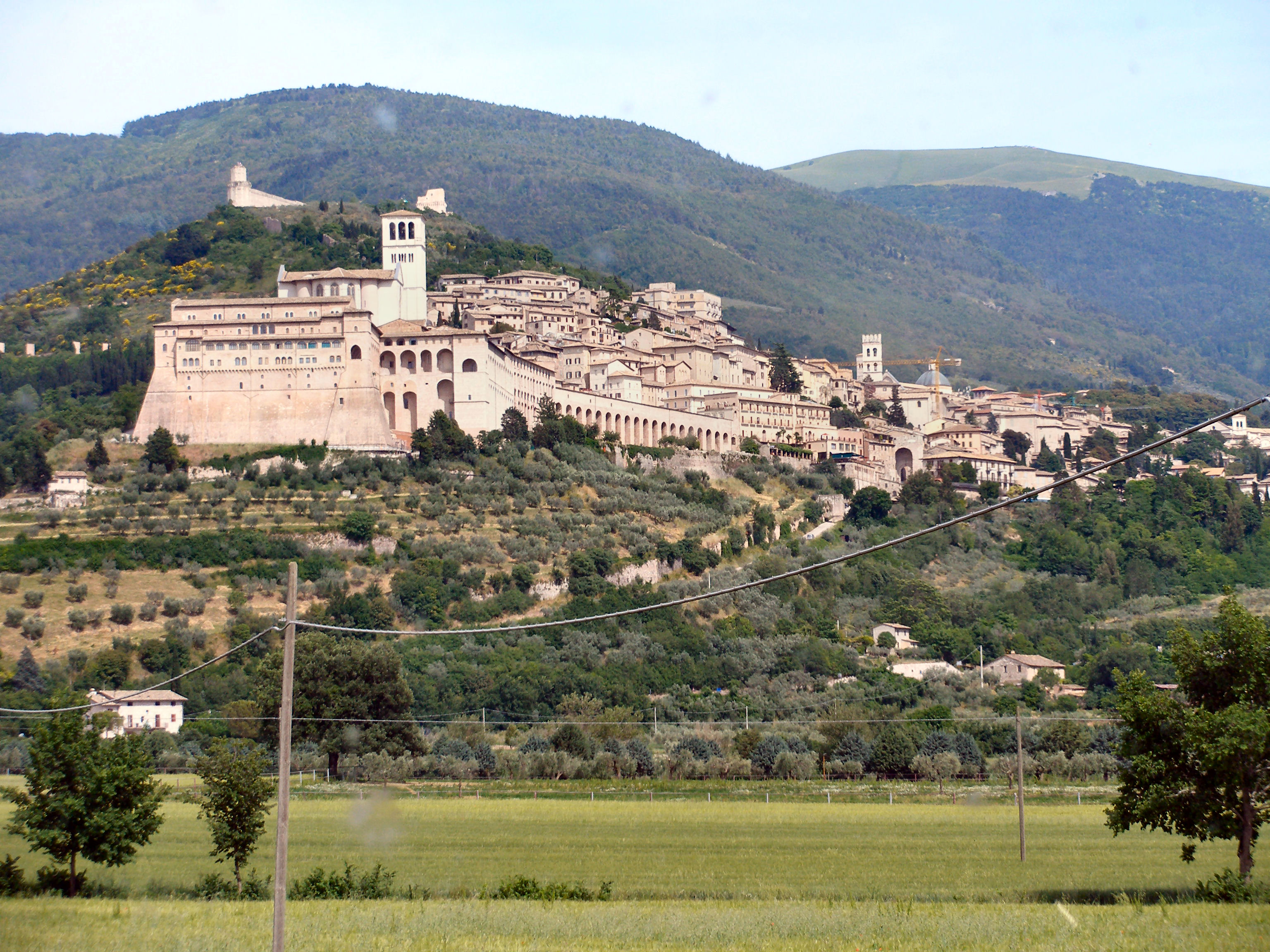 Assisi from Valley.