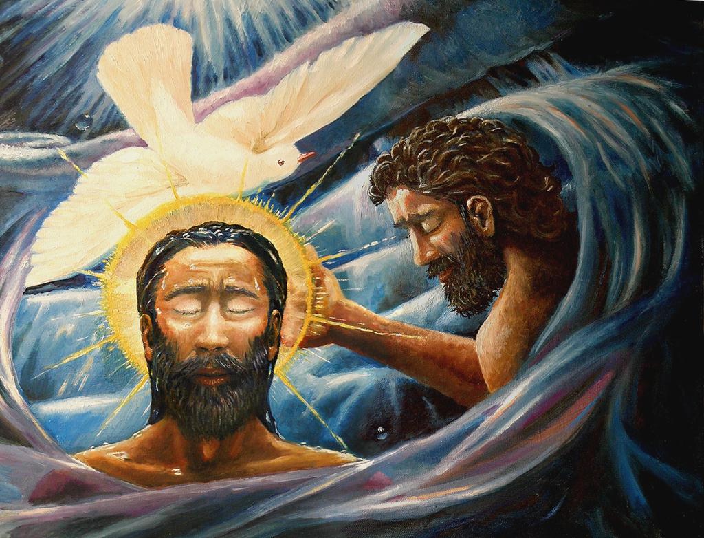 Die Taufe Christi von David Zelenka