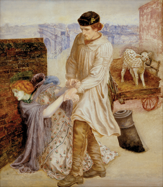 """Found"", Dante Gabriel Rossetti, 1854–55, 1859–81, oil on canvas, Delaware Art Museum, Wilmington, Delaware – USA"