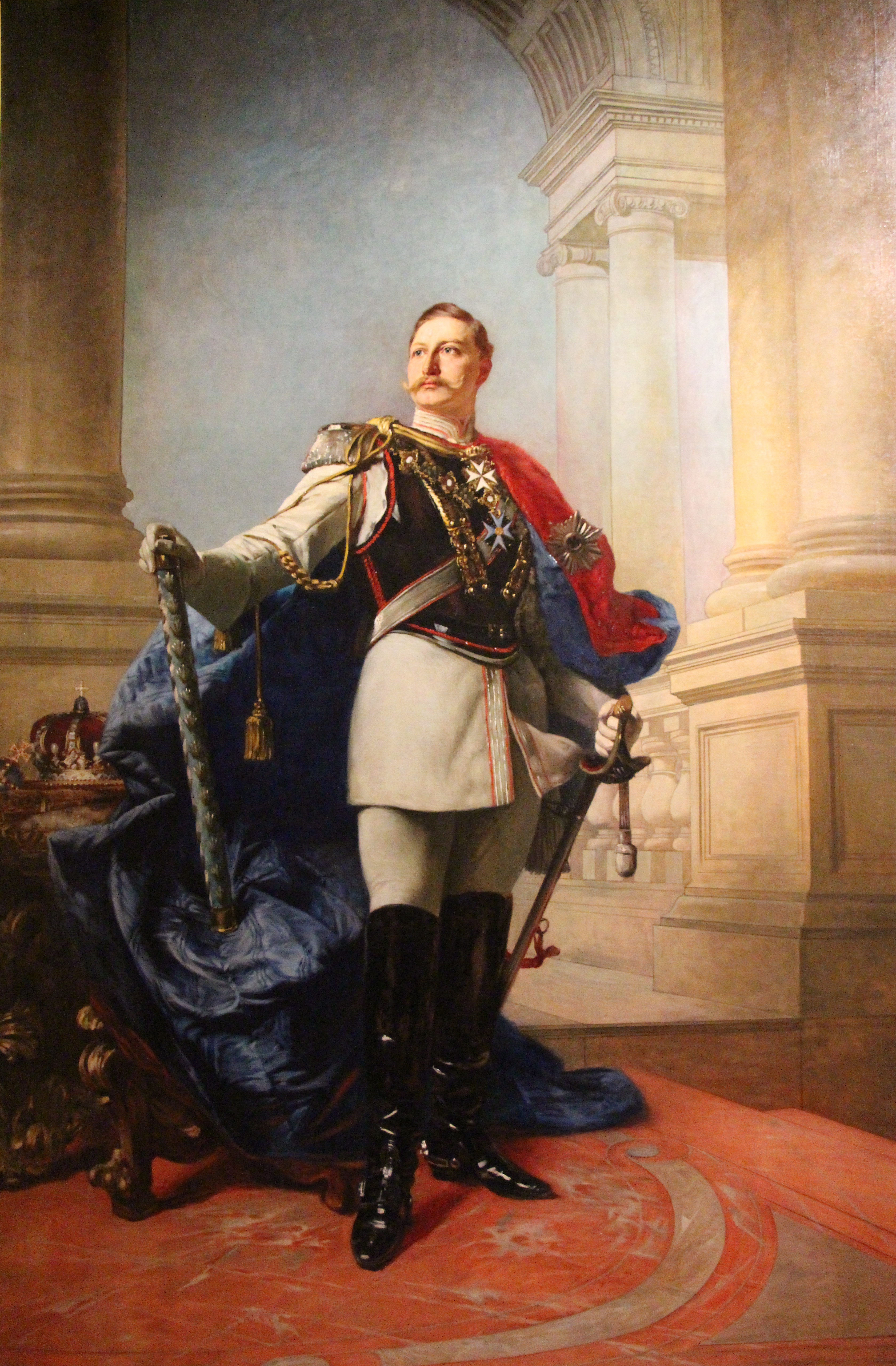 William II, German Emperor. Oil painting by Ma...