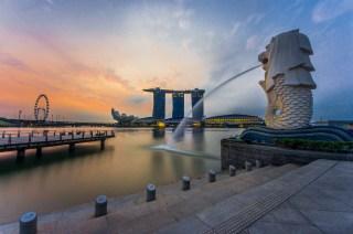 Singapore, Merlion statue