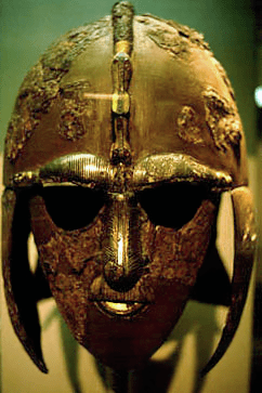 Helmet from the Sutton Hoo ship-burial 1, England.