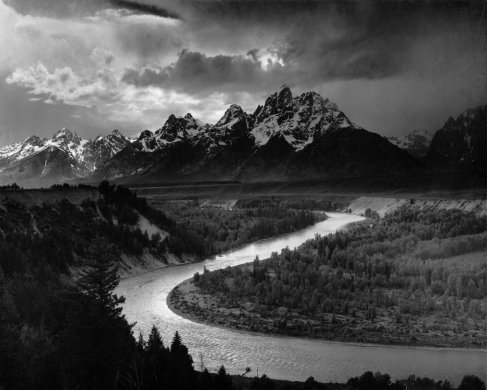 The Tetons and the Snake River (1942) Grand Teton National Park, Wyoming. National Archives and Records Administration, Records of the National Park Service. (79-AAG-1). Ansel Adams, Photography and Creativity