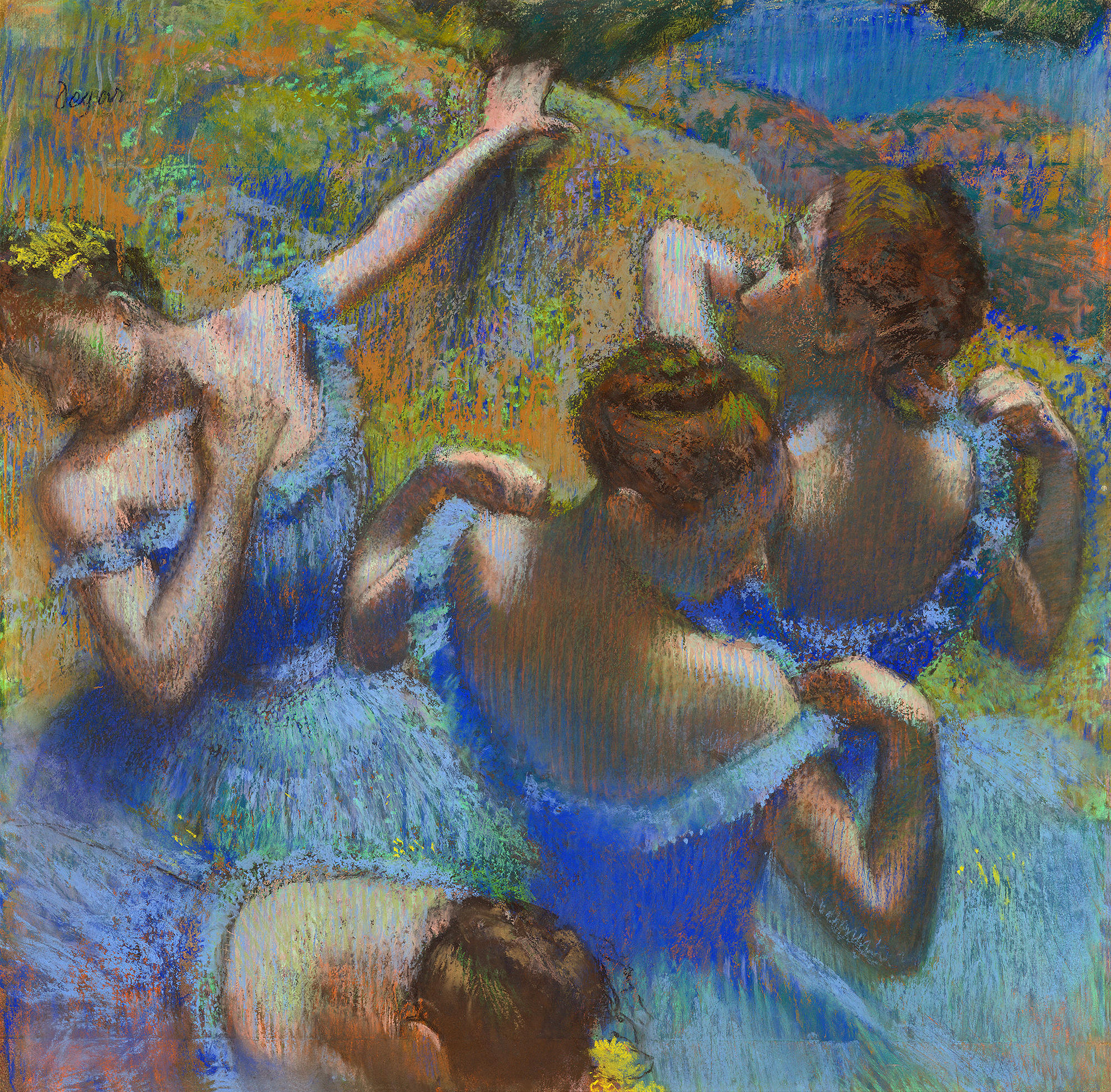 Degas: Dancers in blue