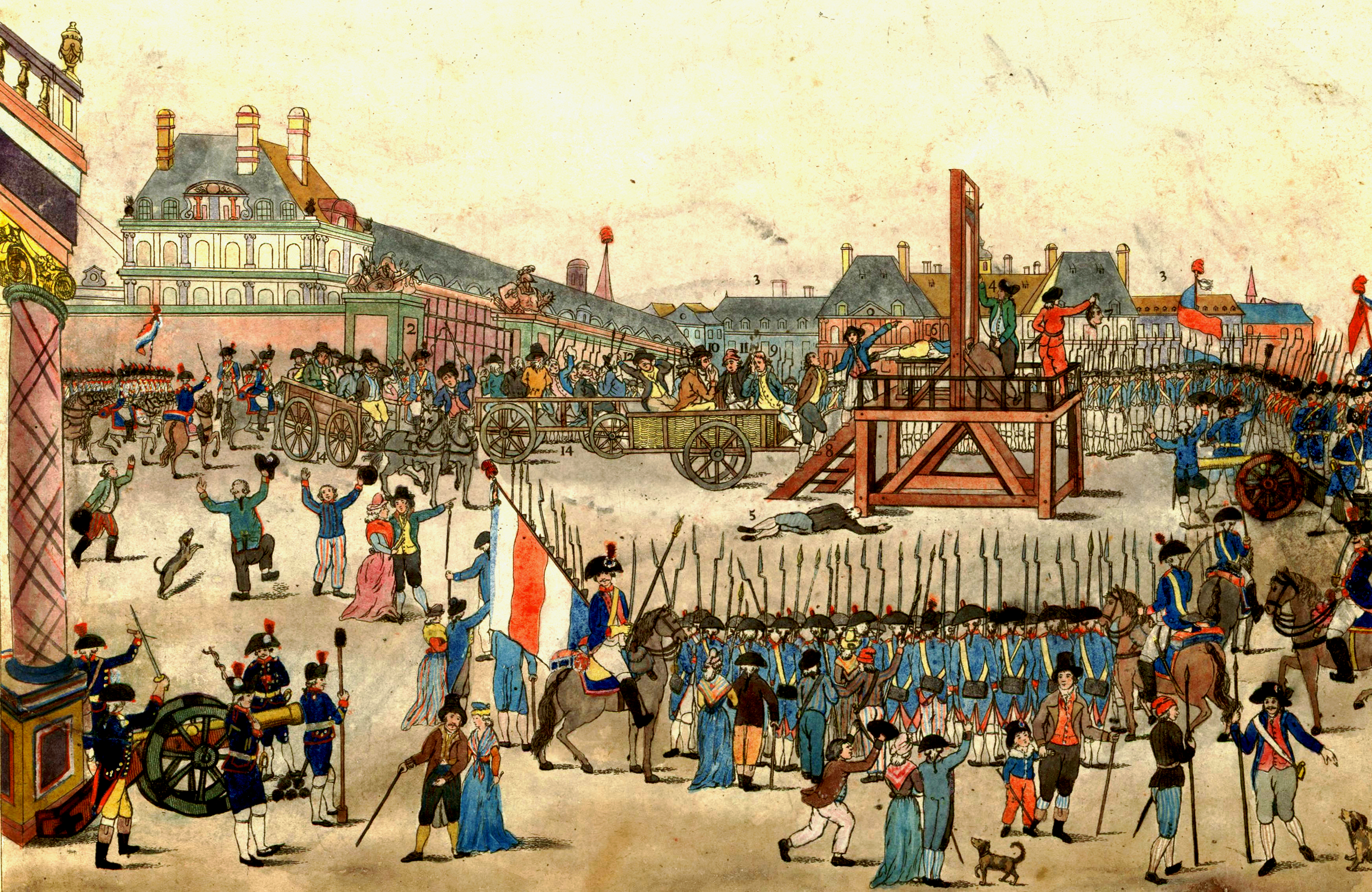 The execution of Robespierre on July 28 The execution of Robespierre on July 28, 1794.