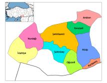 Gaziantep Turkey Map