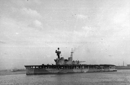 The Royal Navy aircraft carrier HMS Eagle