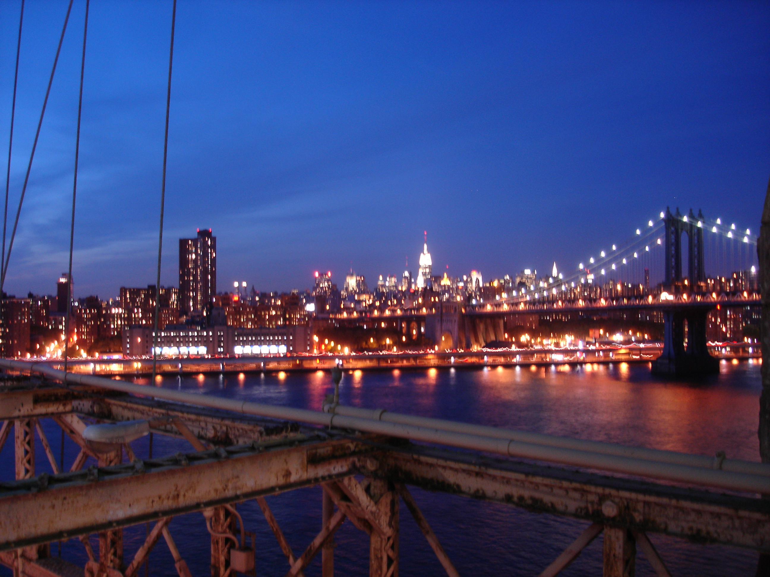 Niagara Falls At Night Wallpaper File Night View At Brooklyn Bridge In New York City