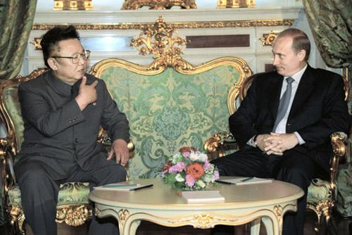 Kim Jong-Il with Vladimir Putin