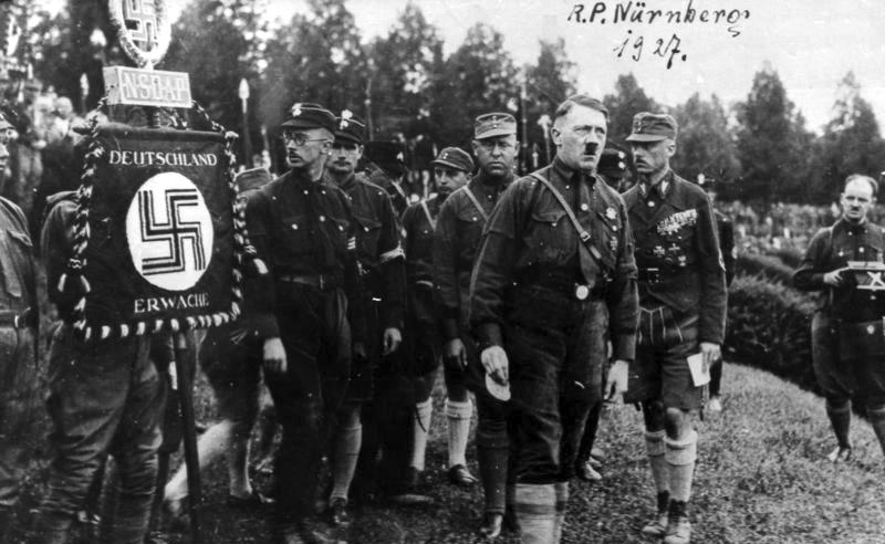 Hitler in 1927 as a speaker at the earliest and the first organized in Nuremberg Reich Party Rally.