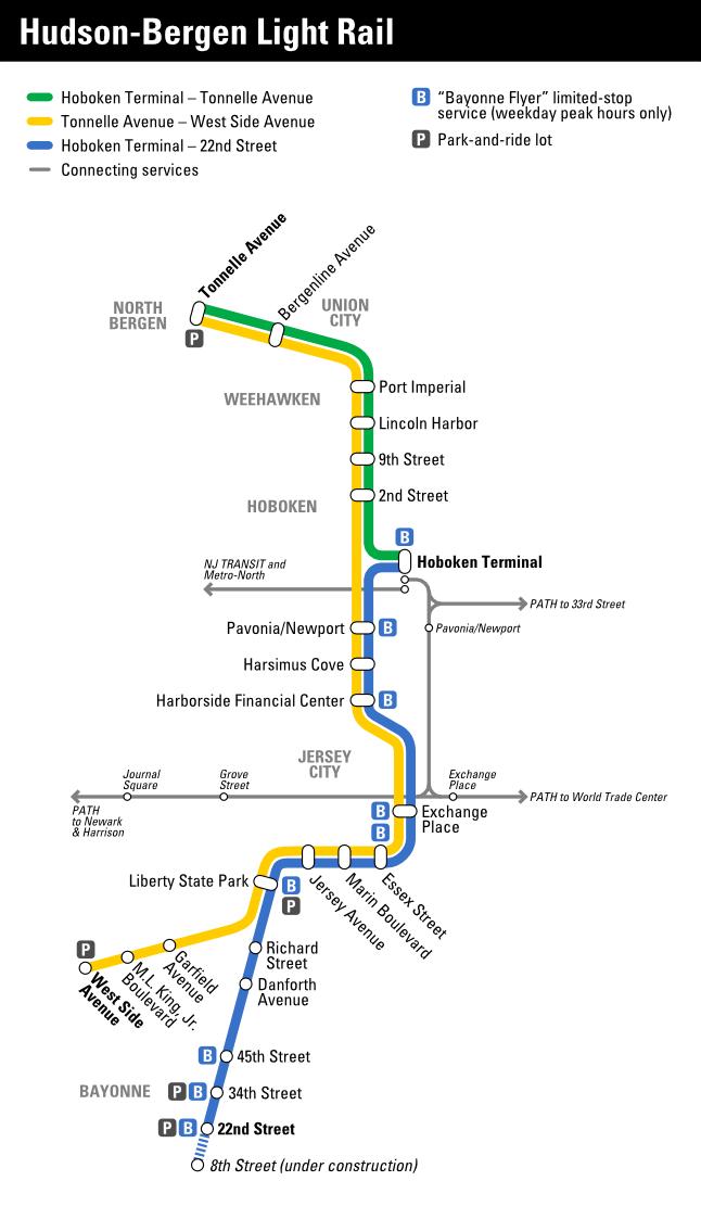 Nj Light Rail Map