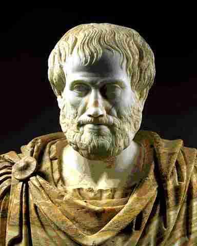 Busto de Aristóteles, el proponente de la teoría de la generación espontánea de la vida